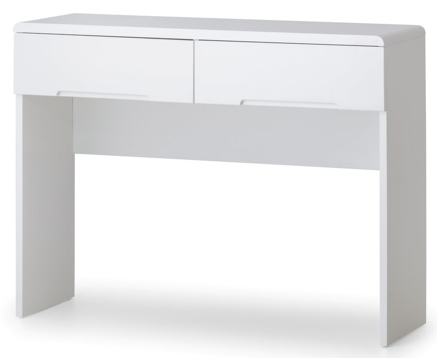 White Gloss Dressing Table And Chair: Manhattan High Gloss White Dressing